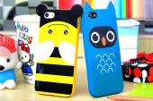 lovely cartoon cover for iphone5 silicon case