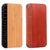 for iphone5 hard wooden case with leather