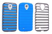 for galaxy s4 i9500 shripe case pc and silicon cover