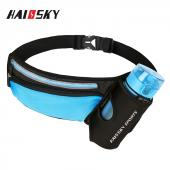 HSK-133 Outdoor sports waist fanny pack with bottle holder waist bag